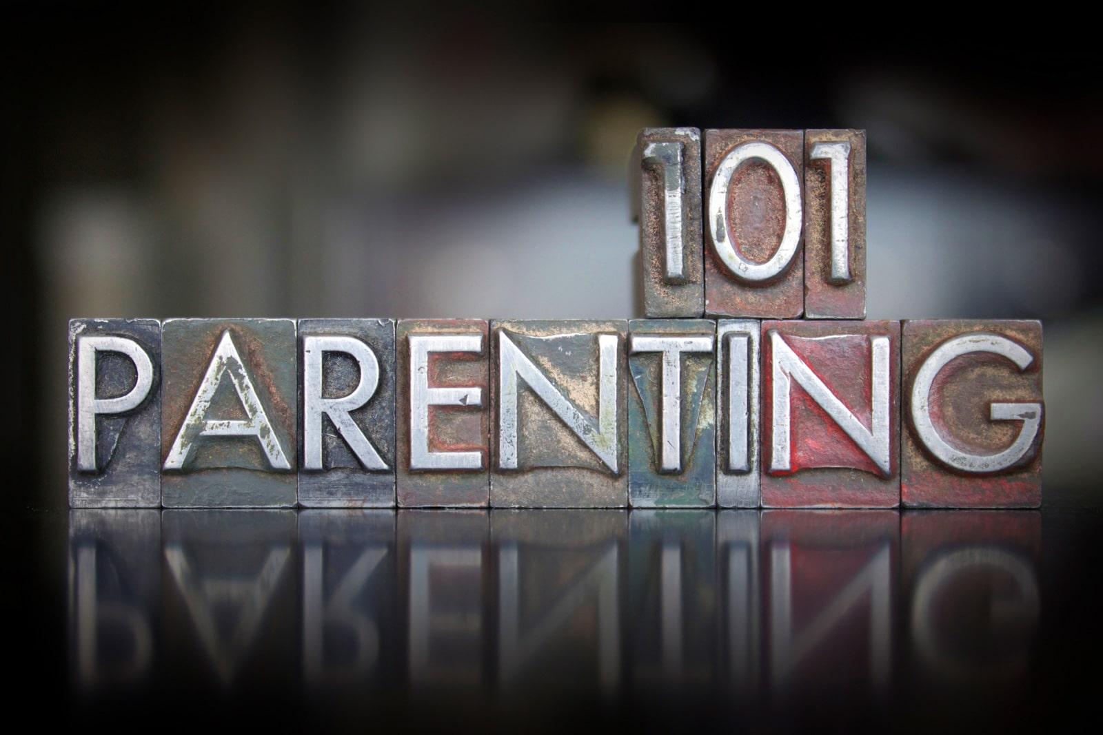 parenting 101 sign