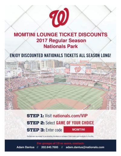 washington nationals discount 2017