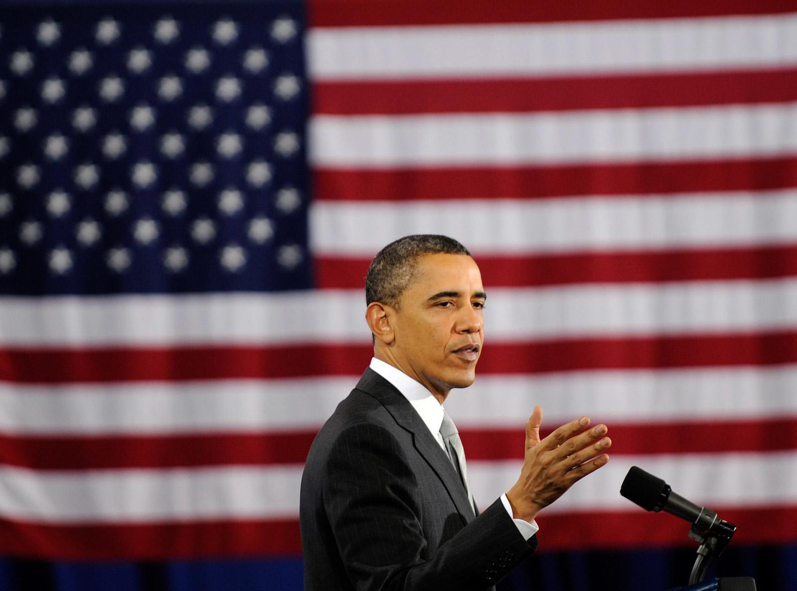 obama flag LK photos